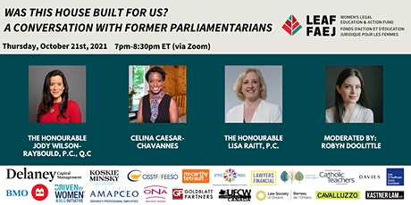 Was this house built for us?  A Conversation with former Parliamentarians tickets