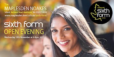 The Maplesden Noakes Sixth Form Open Evening (please read info below) tickets