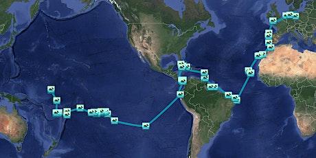 """Reiseshow """"Vom Kiez nach Kiribati"""": Mit Vollgas in die Entschleunigung. Tickets"""