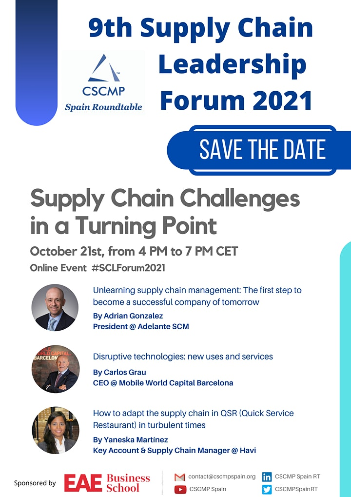9th SC Leadership Forum 2021 - Supply Chain Challenges in a Turning Point image
