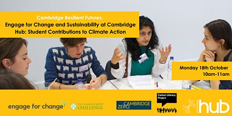 Sustainability at Cambridge Hub: Student Contributions to Climate Action tickets
