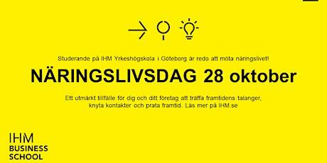 Näringslivsdag IHM Yrkeshögskola i Göteborg biljetter