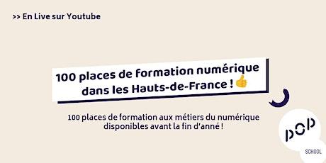 100 places de formations en région Hauts-de-France ! billets