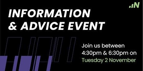 Information & Advice - 02 November 2021 tickets