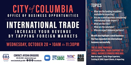 International Trade: Increase Your Revenue by Tapping Foreign Markets tickets