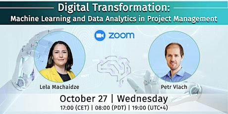 FreeWebinar-Digital Transformation: Machine Learning & Data Analytics in PM tickets