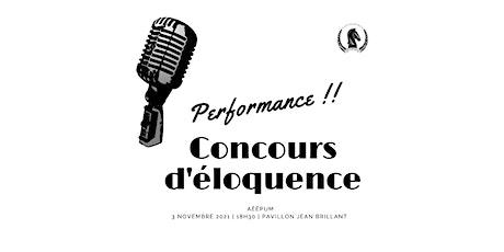 CONCOURS D'ÉLOQUENCE | ÉCOPOL tickets