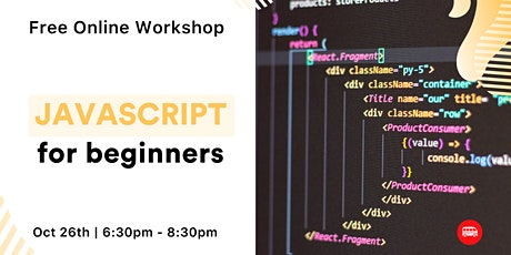 JavaScript for Beginners - Free Online Workshop tickets