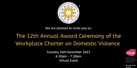 12th Annual Awards Ceremony of the Workplace Charter on Domestic Violence tickets