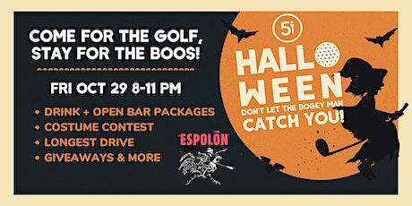 Espolon Tequila Halloween Extravaganza at Five Iron DC tickets