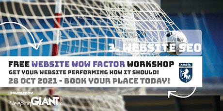 Website WOW Factor  for Kent grassroots football clubs & leagues tickets