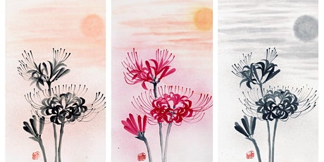 """Sumi-e Painting workshop """"Coloured cluster amaryllis and sunset"""" with KOSHU tickets"""