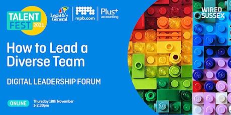 Talent Fest | How to Lead a Diverse Team billets