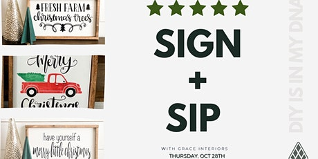 Sign + Sip w/ Grace Interiors tickets