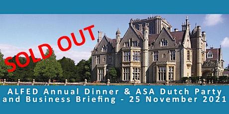 ALFED Annual Dinner & ASA Dutch Party  2021 tickets