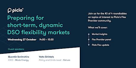 Preparing for short-term, dynamic DSO flexibility markets tickets