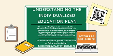 Understanding the Individualized Education Plan #3795 tickets
