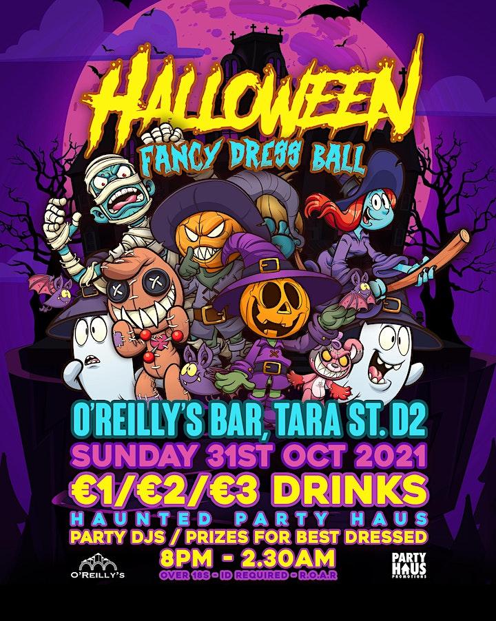 O'Reilly's   Halloween Night Fancy Dress Ball    Sunday 31st Oct image
