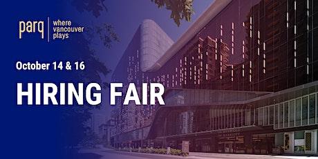 Parq Vancouver Hiring Fair tickets