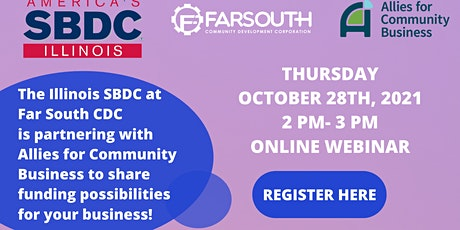 FSCDC presents Business Funding Webinar w/ Allies for Community Business tickets