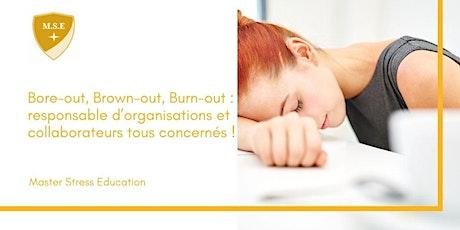 Burn-out : responsable d'organisations et collaborateurs tous concernés ! billets