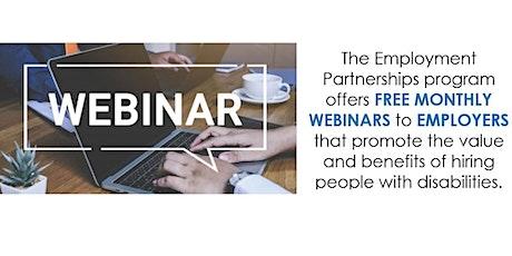 Employment Partnerships Employer Webinar tickets
