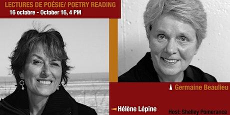 Focus poésie sur Zoom - Lecture de poésie / Poetry Reading Series on Zoom- tickets