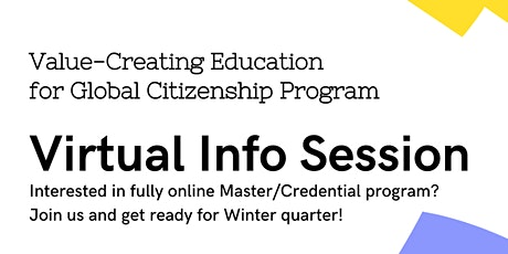 Information Session: Value-Creating Education for Global Citizenship tickets