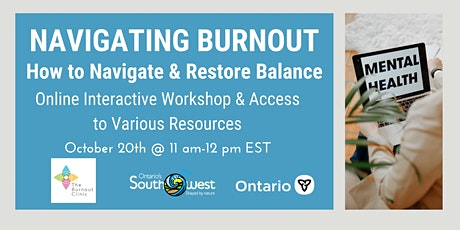 Navigating Burnout: How to Regulate and Restore Balance tickets