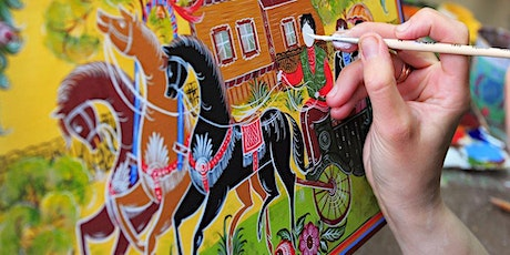 Learn Gorodets - Russian Traditional Wood Painting Style tickets