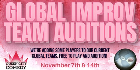 Auditions for Queen City Comedy's Global Improv Team tickets