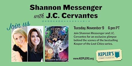 Shannon Messenger with JC Cervantes biglietti