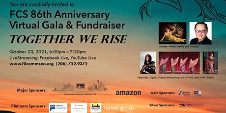 Filipino Community of Seattle 86th Anniversary Virtual Gala & Fundraiser tickets