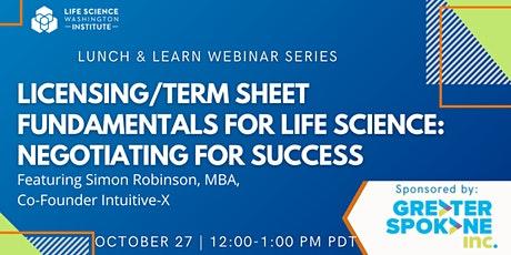 Licensing/Term Sheet Fundamentals for Life Science: Negotiating for Success tickets