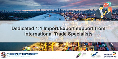 18th Oct - International Trade Specialist 1:1 session tickets