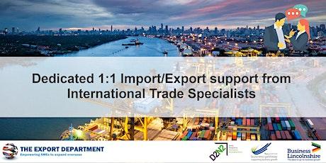 21st Oct - International Trade Specialist 1:1 session tickets