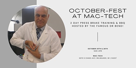 Mac-Tech's  October-Fest Press Brake Training with Dr Bender & Smokey Joe tickets