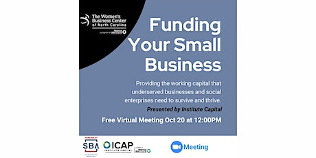 Funding Your Small Business - Presented by Institute Capital tickets
