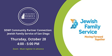 SDWF Community Partner Connection: Jewish Family Service of San Diego tickets