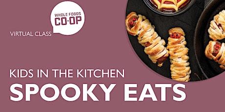 Kids in the Kitchen - Spooky Eats! A FREE Virtual Co-op Class tickets