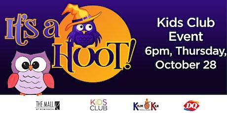 """Kids Club """"It's a Hoot"""" Craft Night tickets"""
