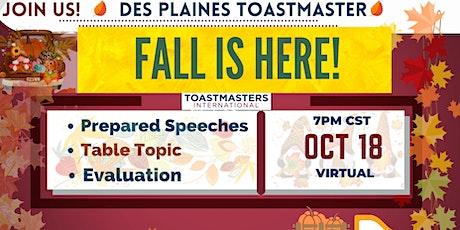 Des Plaines 1645 Toastmasters Meet ONLINE (Leadership & Communications) tickets