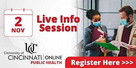 Live Info Session -  UC Online Public Health Programs tickets