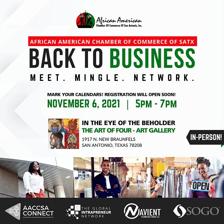 African American Chamber: Back To Business Networking Event image