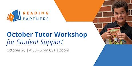 October Tutor Workshop for Student Support ingressos
