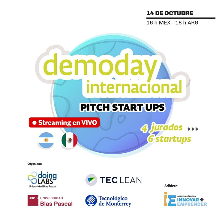 Imagen de Demoday Internacional > Startups incubadas en TecLean y doingLABS