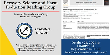 Recovery Science and Harm Reduction - October 2021 tickets
