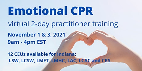 Emotional CPR (eCPR) Zoom 2-Day  Practitioner Training tickets