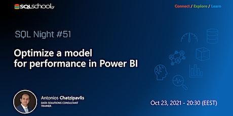 Optimize a model forperformancein Power BI tickets
