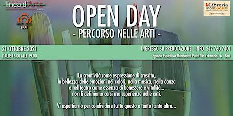 OPEN DAY - Percorso nelle Arti - biglietti